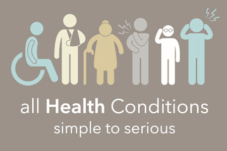 All health conditions, simple to serious